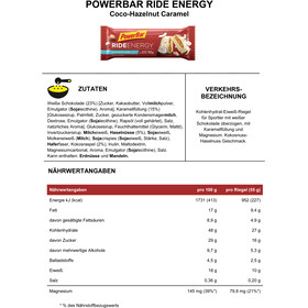 PowerBar Ride Energy Riegel Box Coco-Hazelnut Caramel 18 x 55g